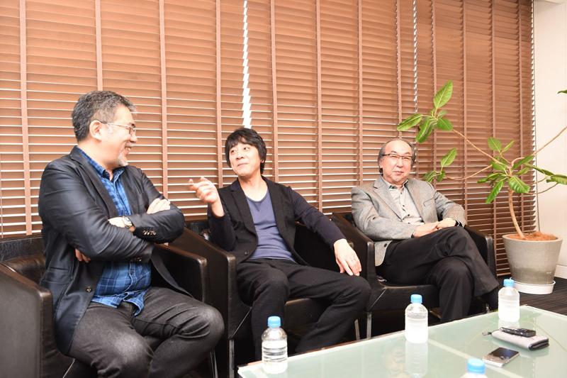 左から篠原監督、山崎さん、横山さん