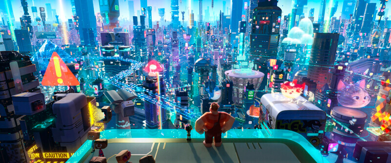 ラルフとヴァネロペは初めてアーケードゲームの世界を飛び出しインターネットの裏側の世界へ