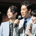 観客と「恋雨」コールを実施!左から松本穂香、磯村優斗、大泉洋、小松菜奈