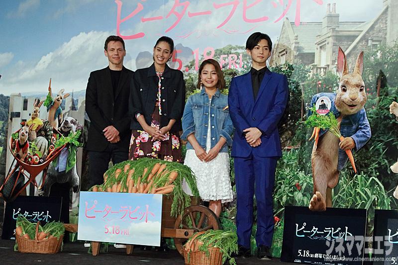 左からウィル・グラック監督、森泉、髙梨沙羅、千葉雄大