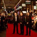 左から江口洋介、役所広司、松坂桃李、映画『孤狼の血』公開記念広島凱旋レッドカーペット