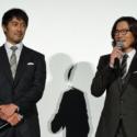 阿部寛と豊川悦司、映画『のみとり侍』初日舞台挨拶にて