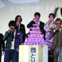 左から鶴橋康夫監督、斎藤工、寺島しのぶ、阿部寛、豊川悦司、松重豊