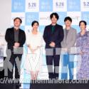 左から深田晃司監督、鶴田真由、ディーン・フジオカ、太賀、阿部純子