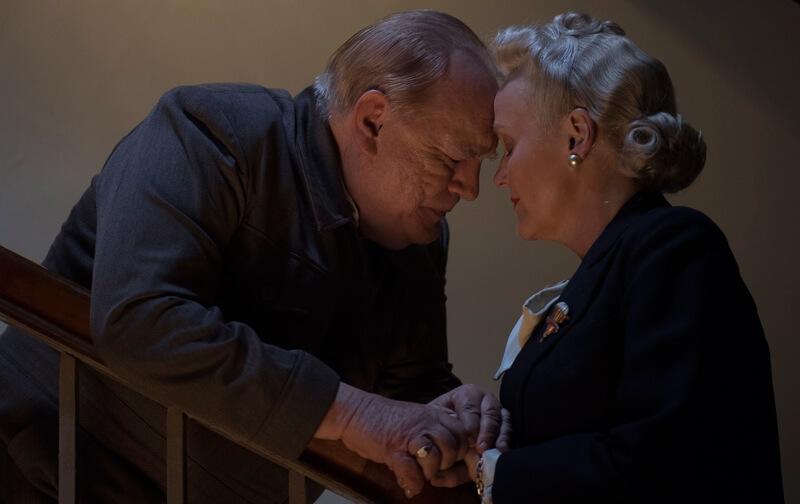 チャーチルと妻のクレメンティーン