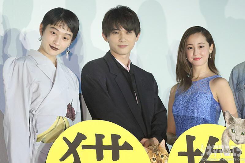 左からコムアイ(水曜日のカンパネラ)、沢尻エリカ、吉沢亮