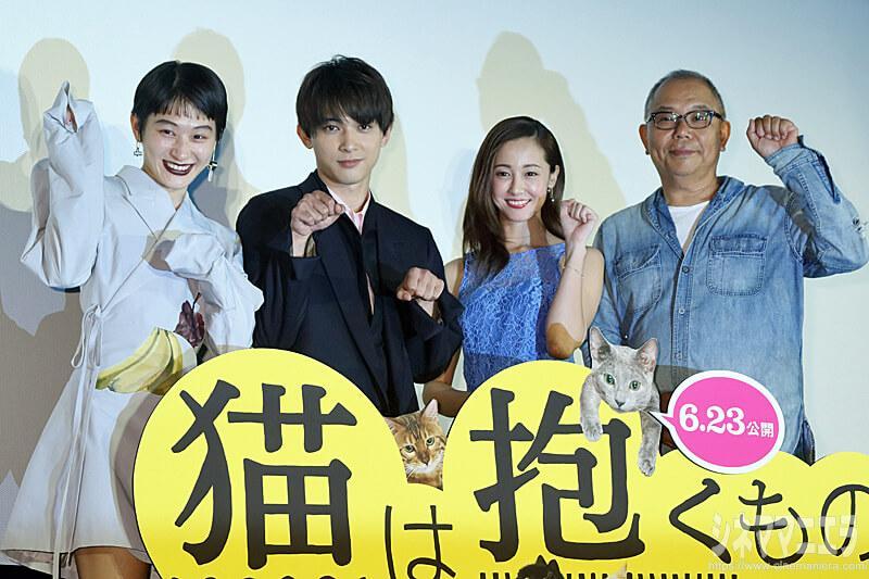 左からコムアイ(水曜日のカンパネラ)、沢尻エリカ、吉沢亮、犬童一心監督