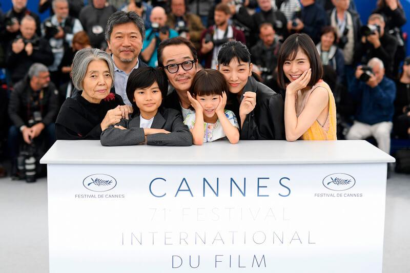 カンヌ国際映画祭フォトコール、映画『万引き家族』(英題 shoplifters )