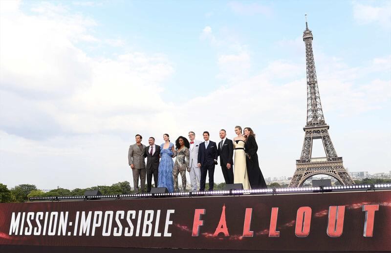 映画『ミッション:インポッシブル/フォールアウト』ワールドプレミア@フランス・パリのシャイヨー宮
