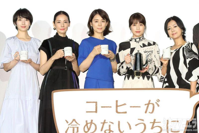 左から、波瑠、吉田羊、石田ゆり子、有村架純、薬師丸ひろ子