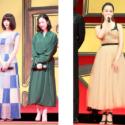左から池田エライザ、黒木華、沢尻エリカのドレス姿全身
