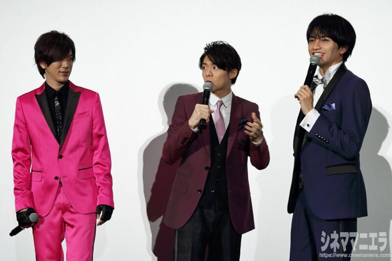 左からDAIGO、岸優太(King & Prince)、中島健人(Sexy Zone)