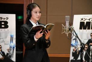 今田美桜、高級スーツで初アフレコ!