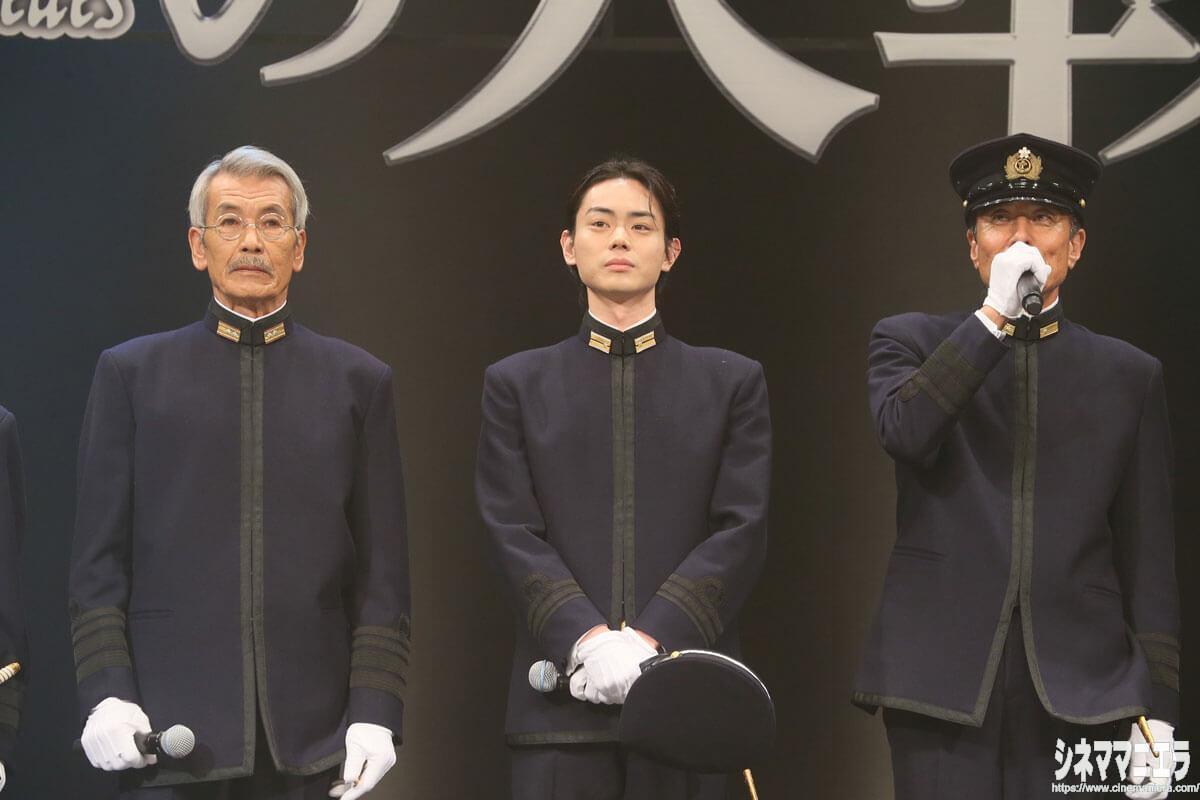 田中泯、菅田将暉、舘ひろし