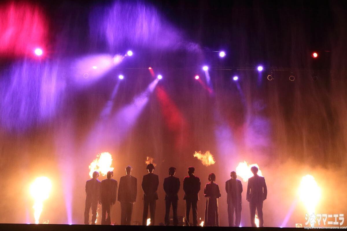 ミスト(霧)と炎の演出!