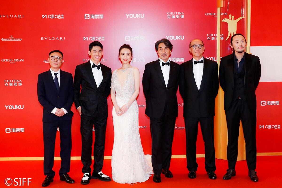 第22回上海国際映画祭レッドカーペットにて