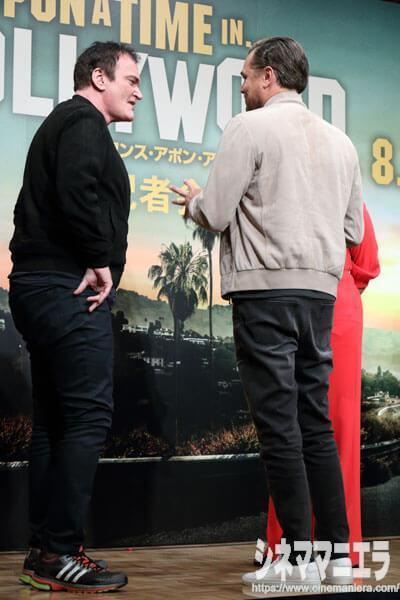 レオナルド・ディカプリオが映画『ワンス・アポン・ア・タイム・イン・ハリウッド』来日会見で履いた白スニーカーのブランドはCOMMON PROJECTS(コモンプロジェクツ)のもの