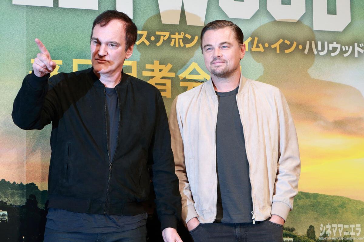 クエンティン・タランティーノ監督とレオナルド・ディカプリオ