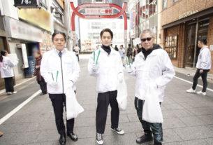 左から吉住健一・新宿区長、窪田正孝、三池崇史監督