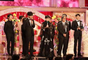 映画『新聞記者』最優秀作品賞、第43回日本アカデミー賞授賞式にて