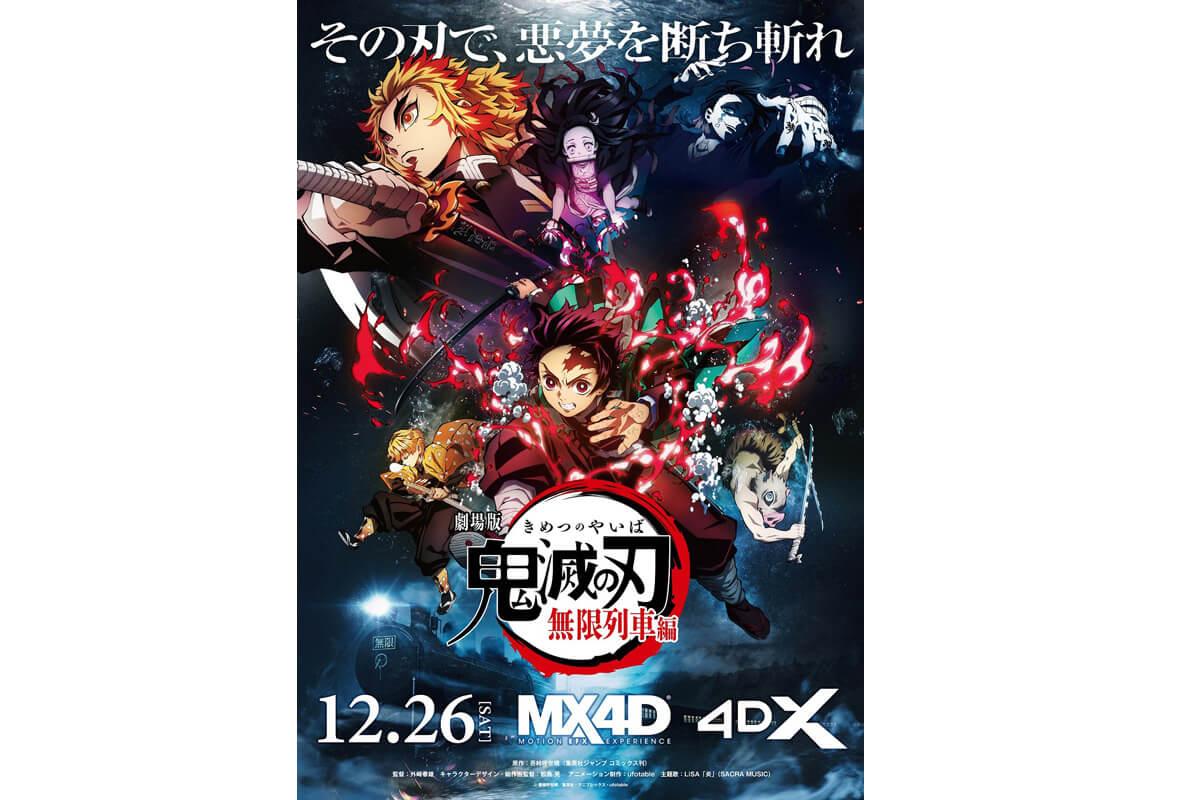 映画『劇場版「鬼滅の刃」無限列車編』MX4D4DXビジュアル